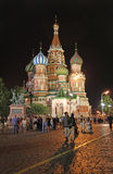 St. Basil's Cathedral by night, Moscow Royalty Free Stock Photo