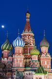St. Basil's Cathedral night view Royalty Free Stock Image
