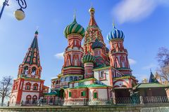 Free St Basil`s Cathedral On Red Square In Moscow Stock Image - 154723121