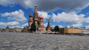 St. Basil's Cathedral (Panoramic view). St. Basil's Cathedral in Red Suare. Moscow. Russia Royalty Free Stock Photo