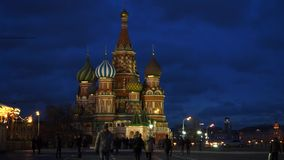 St. Basil`s Cathedral stock video footage