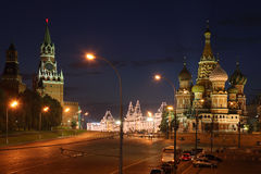 St Basil's Cathedral in Red Square Royalty Free Stock Photography