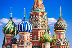 St. Basil's Cathedral on Red Square Stock Photo