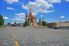 St. Basil's Cathedral at the Red Square Royalty Free Stock Photos