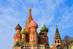 St. Basil's Cathedral on Red square Royalty Free Stock Photos