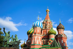 St. Basil's Cathedral on Red square Stock Photos
