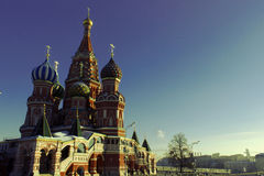 St. Basil's Cathedral. On Red Square Royalty Free Stock Photography