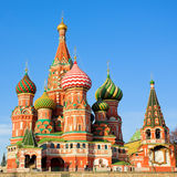 St. Basil's Cathedral on Red square Royalty Free Stock Images