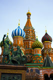 St. Basil's Cathedral on Red square. Domes of the famous Head of St. Basil's Cathedral on Red square, Moscow, Russia Royalty Free Stock Photography