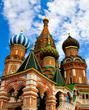 St. Basil's Cathedral on Red square. Domes of the famous Head of St. Basil's Cathedral on Red square, Moscow, Russia Stock Image
