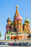 St. Basil's Cathedral on Red Square as viewed from Vassily's des Stock Photo