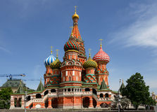 St. Basil's Cathedral on Red square, (Cathedral of the Protection of the Virgin on the Ditch) Royalty Free Stock Photography