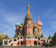 St. Basil's Cathedral on Red square, (Cathedral of the Protection of the Virgin on the Ditch) Stock Photo