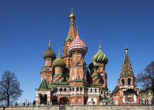 St. Basil's Cathedral on Red Square. Stock Images