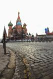 St. Basil's Cathedral and Red Square cobbles Stock Image