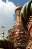 St. Basil's Cathedral Red Square 2007. St. Basil's Cathedral  Cathedral of the Holy Virgin on the Moat, also known as St. Basil's Cathedral - an Orthodox church Stock Photo