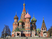 St. Basil's Cathedral on Red square, Moscow Stock Photo