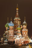 St. Basil's Cathedral on Red square, Moscow Stock Photos
