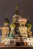 St. Basil's Cathedral on Red square, Moscow Stock Photography