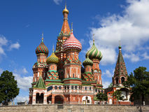St. Basil's Cathedral on Red square, Moscow Royalty Free Stock Images