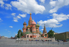 St. Basil's Cathedral at the Red Square of Moscow Royalty Free Stock Images