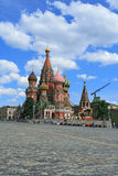 St. Basil's Cathedral at the Red Square of Moscow Royalty Free Stock Image