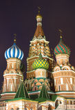 St. Basil's Cathedral on Red Square in Moscow Stock Photography