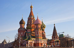St. Basil's Cathedral on Red square, Moscow Stock Image