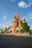 St. Basil`s Cathedral on Red square in Moscow. Stock Image