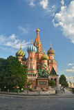 St. Basil`s Cathedral on Red square in Moscow. Stock Photography