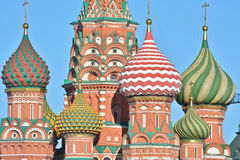 St. Basil's Cathedral on red square in Moscow. Stock Photos