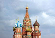St. Basil's Cathedral on Red Square in Moscow Russia Royalty Free Stock Photo