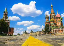 St. Basil's Cathedral on Red Square in Moscow, Russia. Royalty Free Stock Photos