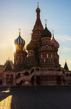 St. Basil's Cathedral on Red Square in Moscow, Russia. Royalty Free Stock Photography