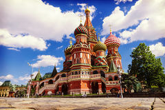 St. Basil's Cathedral on Red Square in Moscow, Russia. Royalty Free Stock Images
