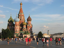 St. Basil`s Cathedral on Red square in Moscow Royalty Free Stock Image