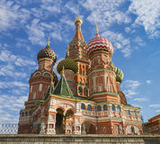 St. Basil's Cathedral on Red square in Moscow, Russia. Domes of St. Basil's cathedral on Red Square in Moscow, Russia stock photos