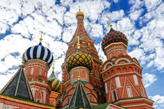 St. Basil's Cathedral on Red square in Moscow, Russia. Domes of St. Basil's cathedral on Red Square in Moscow, Russia stock images