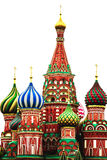St. Basil's Cathedral. Red Square. Moscow.Russia. St. Basil's Cathedral in Red Square in Moscow.Russia (Isolated Royalty Free Stock Photo