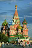 St. Basil`s Cathedral on Red Square. Moscow Stock Photos