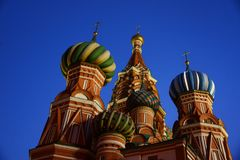 St. Basil`s Cathedral on Red Square stock photos