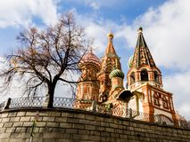 St. Basil`s Cathedral on the Red Square, Moscow, Russia royalty free stock photo