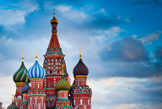 St. Basil's Cathedral on Red square in Moscow, Russia. St. Basil's Cathedral on Red square at sunset, Moscow, Russia Royalty Free Stock Photography