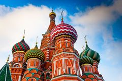 St. Basil's Cathedral on Red square, Moscow, Russia. St. Basil's Cathedral on Red square at sunset Moscow, Russia Royalty Free Stock Photo