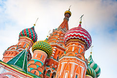 St. Basil's Cathedral on Red square, Moscow, Russia. St. Basil's Cathedral on Red square at sunset Moscow, Russia Royalty Free Stock Image