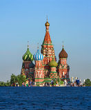 St. Basil's Cathedral on Red Square, Moscow, Russia. View of the famous St. Basil's Cathedral on Red Square in Moscow royalty free stock photo