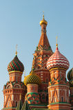 St. Basil's Cathedral on Red square in Moscow Royalty Free Stock Images