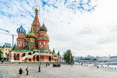 St. Basil's cathedral on Red Square of Moscow Stock Image