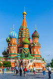 St. Basil's cathedral on Red Square of Moscow Royalty Free Stock Photos