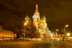 St. Basil`s Cathedral on Red Square Stock Image